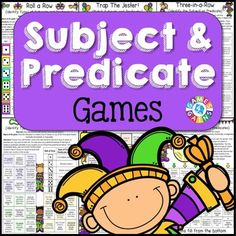 Subject and Predicate Games - Games 4 Gains - 1 Source by heathernguyenwle Subject And Predicate Games, Ela Games, Grammar Games, Learning Games, Learning Tools, Types Of Verbs, Types Of Sentences, Games
