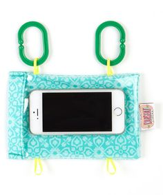 Mint to Be Smartphone Case- Keep little ones endlessly entertained while protecting precious smart phones with this convenient case. It attaches to car seats, strollers and shopping carts and prevents drops and scratches while tiny tots play. Look what I found on #zulily!