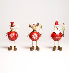 Retro Santa, Snowman and Rudolph Christmas decorations Sass & Belle x 3  #SassBelle