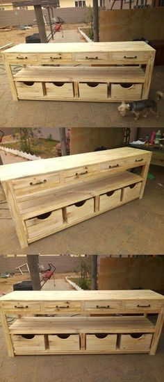 Awesome Wooden Pallet Counter