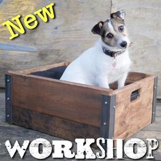 Make an industrial storage box crate from scratch from reclaimed wood and steel in this creative workshop class in Brighton Industrial Storage Boxes, Creative Workshop, Wood Steel, Toy Chest, Crates, Storage Chest, Learning, How To Make, Studying