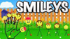 Finger Family Song of Smileys || Finger Family Nursery Rhymes for Kids