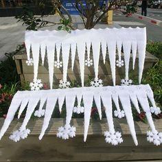 White Ice Strip With Snowflake Christmas Decor