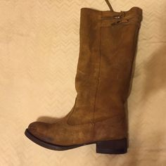Zara boots Distressed suede boots. Perfect for cold weather Zara Shoes