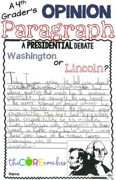 Get kids writing! Lesson plan resource with leveled texts on Lincoln and Washington. Great for opinion writing and President's Day.