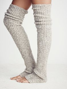 Lemons Bowery Ribbed Over The Knee Legwarmer at Free People Clothing Boutique Thigh High Leg Warmers, Thigh High Socks, Crochet Slippers, Knit Crochet, Fall Outfits, Cute Outfits, Knit Leg Warmers, Mode Style, Look Fashion