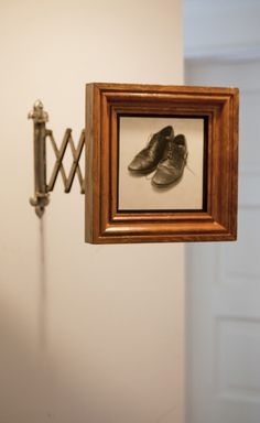 One of my framed photographs - My Wingtips - Silver gelatin print in an accordion arm frame - www.jeffersonhayman.com