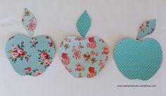 Sticker en tissu adhésif Trois pommes : Décorations murales par atelier-de-liuba