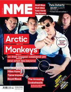 NME magazine cover, Arctic Monkeys, May 24th 2014