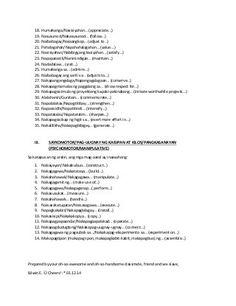 Behavioral Objectives in Filipino