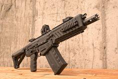 AK Pattern Entry Shotgun - The Fostech Takes Saiga Mags - GunsAmerica Digest Weapons Guns, Guns And Ammo, Arsenal, Ar Rifle, Firearms, Shotguns, Tactical Shotgun, Battle Rifle, Lethal Weapon