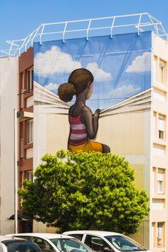 Eh l'artiste, repousse les murs et montre-moi un coin de ciel bleu ! / Street art. / Ile de la Réunion.
