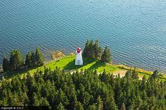 Jerome Point lighthouse [1956 - St Peter's, Nova Scotia, Canada] Hope Symbol, Atlantic Canada, Cape Breton, Beacon Of Light, Prince Edward Island, New Brunswick, Newfoundland, Canada Travel, Nova Scotia