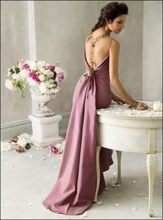 LOVE this color bridesmaid dress!! If only i could find it!  Jim Hjelm dress