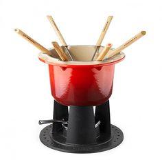 Fondue - Kori - Le Creuset, Valurautainen fonduepata punainen 6:lle