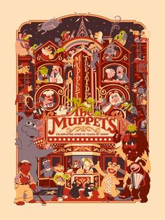Know what's excellent? Not only do I own a copy of this Muppet poster, but I know the guy (Jamie) who designed/created it! The Muppets fandom is one big happy family.