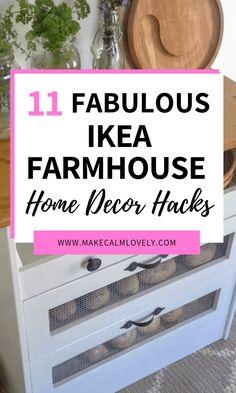 11 Fabulous IKEA Farmhouse Home Decor Hacks - JudeBuxom. Diy Furniture Hacks, Home Decor Hacks, Home Decor Styles, Cheap Home Decor, Diy Home Decor, Ikea Furniture, Decor Ideas, Diy Ideas, Ikea Ideas