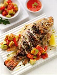 Grilled Lemon & Herb Tilapia with Avocado Salsa Recipe at MyDish
