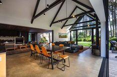 Amazing gable cabin retreat boasts indoor-outdoor living in New Zealand