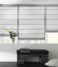 Sheer linen Roman blinds