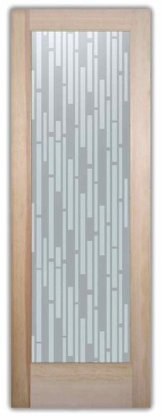 Strips Vertical Modern Style Interior Etched Glass Doors - Customize your design, wood type, border and font style to your decor style! Etched Glass Door, Glass Etching, Glass Doors, Custom Glass, Types Of Wood, Glass Design, Rustic Decor, Decor Styles, House Design