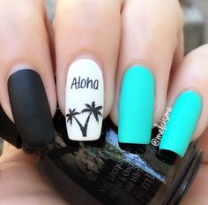 Nail art Christmas - the festive spirit on the nails. Over 70 creative ideas and tutorials - My Nails Summer Acrylic Nails, Cute Acrylic Nails, Summer Nails, Cute Nails, Jolie Nail Art, Bright Red Nails, Vacation Nails, Beach Nails, Boxing Day