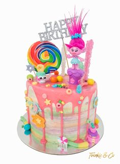 Troll | Disco | Drip Cake | Happy Birthday | Lolly Cake | Party