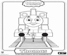 Thomas The Tank Engine, the blue locomotive with number 1 coloring page