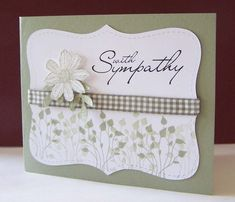Best 25+ Handmade sympathy cards ideas on Pinterest ...