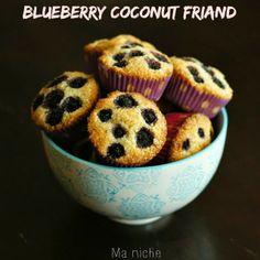 Ma Niche: Blueberry Coconut Friands (Grainfree & Glutenfree)