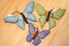 felt butterfly ornaments