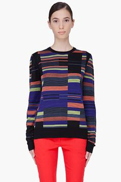 PROENZA SCHOULER Striped Silk Sweater