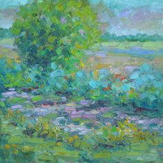 "Landscape Artists International: ""Overgrown"" Original Impressionism Colorado Landscape Oil Painting by Western Colorado Artist Barbara Churc..."