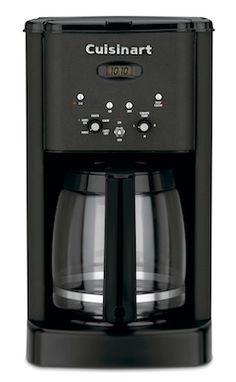 I would be lost without this amazing coffee maker from Cuisinart - Ross  Cuisinart Brew Central 12-Cup Programmable Coffeemaker, Matte Black  Price:$89.95  http://www.lerouxkitchen.com/store/pc/viewPrd.asp?idproduct=2746