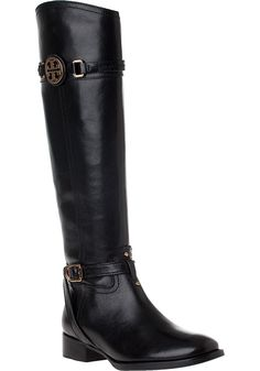 Tory Burch - Calista Riding Boot Black Leather.  Oh My...I think I'm in Love!