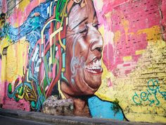 art on the streets of cartagena, colombia — along dusty roads
