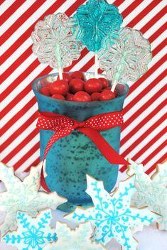 Friandises | Rouge et turquoise