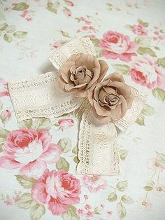 Lolibrary | Mary Magdalene - Hair accessories - Jacquard Ribbon Corsage