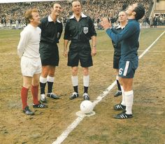 Ron Harris tosses up watched by Leeds United captain Billy Bremner before the 1970 FA Cup final at Wembley.
