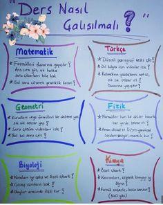 I Hate School, Back To School, Learn Turkish, School Planner, Study Hard, Bullet Journal Ideas Pages, School Notes, Study Notes, Study Tips
