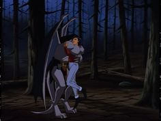 Goliath & Elisa share a wonderful embrace. :-) This is when they found each other in the forest in Canada.