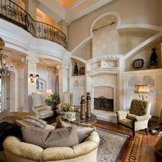 Beautiful Living Room Interior .Classical double story Living Room interior by A.SHAKOOR HINGORO, via Flickr