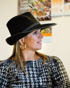 Queen Máxima, November 21, 2014 | Royal Hats.... Posted on November 21, 2014 by HatQueen....Queen Máxima was in Joure today to open the new Community School, a collaborative project that includes primary schools, a childcare organization, social welfare supports and a center for the arts.