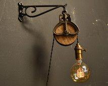 Pulley Light - Wall Light - Farmhouse decor - Lighting - Wall lighting - Bar Light - Pub Light - Industrial Decor - Home Decor - House Life