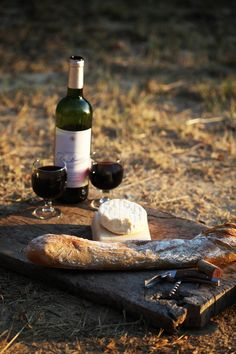 wine, bread, and cheese every day