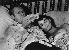 1972 — Steve McQueen and Ali MacGraw in The Getaway — Image by © Bettmann/CORBIS
