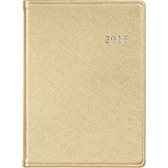 Pin for Later: 22 Stylish Agendas For a Well-Planned 2015  2015 Large Gold 12-Month Date Book ($40)