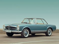 "Mercedes-Benz 230 SL, the famed ""Pagoda"", launched at the Geneva Motor Show in March 1963."