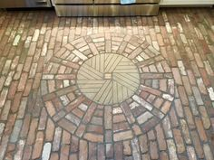Thin Brick Tile Cut From Reclaimed Bricks Salvaged Mills Used For Floor