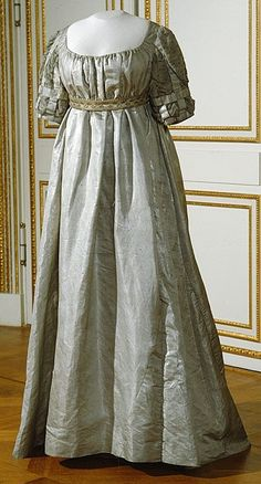 queen wilhelmina dress | Coronation Dress: 1809, silk lined with silk taffeta, embellished ...